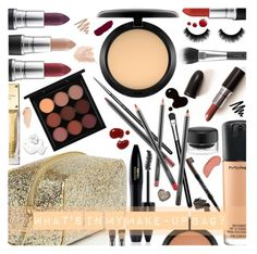 """""""What's in my make-up bag?"""" by giogiota ❤ liked on Polyvore featuring beauty, Kate Spade, MAC Cosmetics, Lancôme, NYX, Topshop, Untold, Bobbi Brown Cosmetics, Michael Kors and bathroom"""