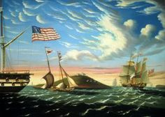 Boston Harbor. ca. 1843-45, by Thomas Chambers, Oil on canvas, 22 x 30 1/8 inches, National Gallery of Art, Washington, DC