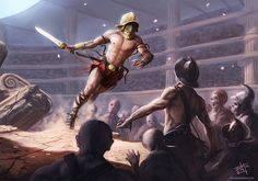 """GLADIATOR"" the Movie was the spark that ignited me to get back into the art business. This is 100% colored pencils (Prisma-Color) hand-drawn on Illustration board. Used 2 underpaintings, first blu..."