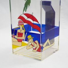 1980's  Pitcher  Vintage Acrylic Plastic Hip 2B by VintageCommon