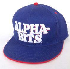 NEW Post-Cereal ALPHA-BITS SNAPBACK HAT Blue/White/Red Men/Women/Teen OSFM Funny #PostFoods #BaseballCap
