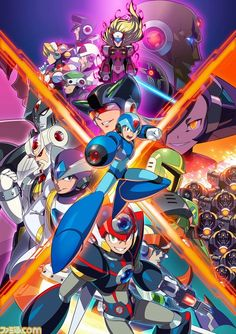 Mega Man X Legacy Collection 1 + 2 Poster Akira, Cry Anime, Anime Art, Anime Fnaf, Wii U, Maverick Hunter, Mega Man 2, Nintendo Switch, Nintendo 3ds