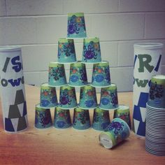 I can in no way, shape, or form take full credit for this great idea. However, I modified it for my use with /s/ and /r/ in therapy and my kids LOVE it! They are known in my room as Artic. Towers...