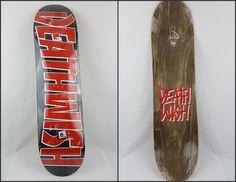"""Brand New Sealed Deathwish Deathspray Black Red Skateboard Deck - 8"""" #Deathwish #skateboarding #skateboards"""