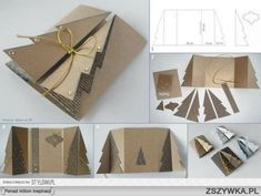 Pop-up Natural Christmas Tree Card::by Kartka Z Choinką