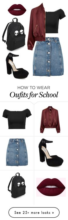 """""""Untitled #1"""" by halina-chaika on Polyvore featuring Topshop, Alice + Olivia, Mulberry and Steve Madden"""