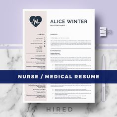 Nurse Resume Template for Word: Natalie   - 100% Editable. - Instant Digital Download. - US Letter & A4 size format included. - Mac & PC Compatible using Ms Word.   Medical Resume Template for MS Word. If you like this template but you are not a Doctor or a Nurse, you can adapt the template for your profession. All our templates are easily editable 100%   ► PROMO CODES: --> Get 30% OFF on 2 templates with the code HIRED30 --> Get 35% OFF on 3 templates with the code...