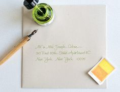 Makes me wish I had nicer handwriting Anne Robin - Calligraphy | Anne Robin: Los Angeles Calligrapher, Hand Written Calligraphy, Wedding Invitations