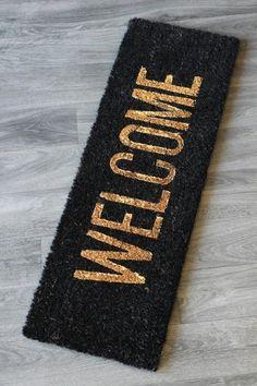 Black U0026 Gold Welcome Doormat From Rockett St George
