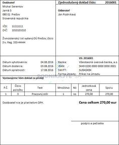 Čo obsahuje zjednodušený daňový doklad a kedy ho vystaviť - podnikajte.sk
