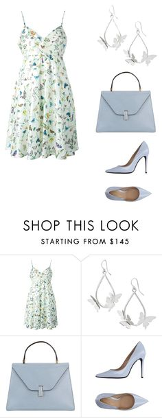 """Beautiful Vintage Versace Butterfly Dress"" by weavingmaiden ❤ liked on Polyvore featuring Versace, Valextra, Versace 19•69 and vintage"
