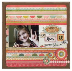 We Love U Too! - Scrapbook.com - #scrapbooking #layouts #bazzillbasics #caroleescreations #cratepaper #sakura #timholtz