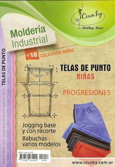 Mujeres y alfileres: Moldería industrial para niñas Nº 18 - Telas de punto