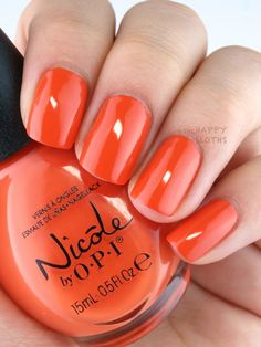 Nicole OPI The Look is Orange Swatches
