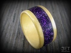 Hey, I found this really awesome Etsy listing at https://www.etsy.com/listing/169888243/bentwood-ring-maple-with-wide-purple