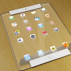 New iPad Model Transparent Concept by Designer Ricardo Afonso