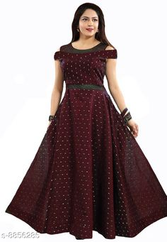 Checkout this latest Gowns Product Name: *Women Satin Anarkali Gown* Fabric: Satin Sleeve Length: Short Sleeves Pattern: Zari Woven Multipack: 1 Sizes: M, L, XL, XXL Easy Returns Available In Case Of Any Issue   Catalog Rating: ★4.2 (8350)  Catalog Name: Pretty Partywear Women Gowns CatalogID_1518665 C79-SC1289 Code: 643-8856285-5422
