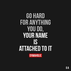 Motivational Fitness Quotes QUOTATION - Image : Quotes Of the day - Description Go Hard For Anything You Do Sharing is Caring - Don't forget to share this Sport Motivation, Fitness Motivation Quotes, Daily Motivation, Motivation Inspiration, Cycling Motivation, Workout Inspiration, Fitness Goals, Health Fitness, Positive Quotes