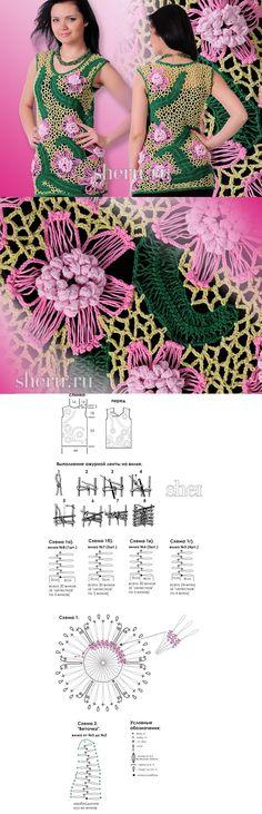 Flores de crochê de grampo