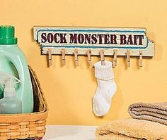 laundry room decor-this is cute too!