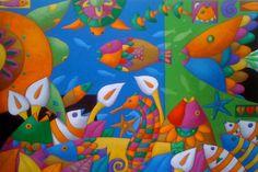 serie '' acuarios '' acrilico sobre lona - 2014 obra original .