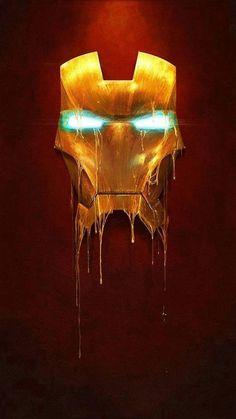 Marvel Comics Gilded Iron Man Illustration by Sam Spratt Marvel Comics, Marvel Heroes, Marvel Characters, Tony Stark, Rage Comic, Fantasy Anime, Man Illustration, The Avengers, Marvel Wallpaper