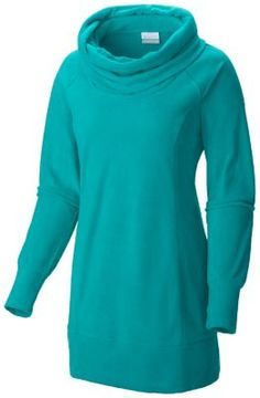 This super-casual, cowl-necked microfleece pullover tunic is a super-comfortable piece that goes great with pretty much any pair of jeans.