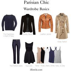 Parisian Chic Wardrobe Basics - you don't need a lot of clothing to look like a million bucks