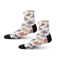 Expressing aquatic life, these designer socks are a go to option for any outfit!