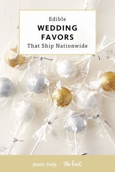 Edible wedding favors that ship across the country