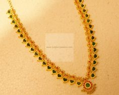 Necklaces / Harams - Gold Jewellery Necklaces / Harams at USD Real Gold Jewelry, Gold Jewelry Simple, White Gold Jewelry, Gold Jhumka Earrings, Gold Earrings Designs, Gold Jewellery Design, Golden Earrings, Gold Bangle Bracelet, Gold Necklace