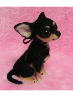 Needle Felted Chihuahua.