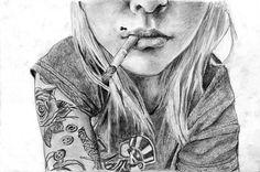 Girl smoking by ThisChaos on DeviantArt
