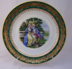 Vintage French Limoges Green and Gold Romance by thesecretcupboard, £23.00