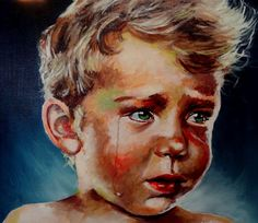 """Crying boy"" painting!"