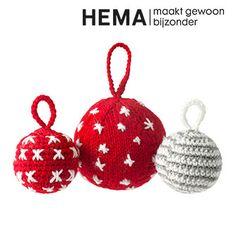 HEMA gehaakte en gebreide kerstballen (gratis PDF)