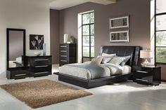 Dimora Black 7 Pc. King Bedroom (Alternate) | Value City Furniture