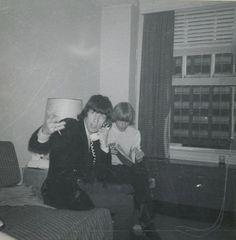 Bill Wyman and Brian Jones - Forham Hotel; NYC May 29, 1965