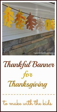 cheap and easy Thankful Banner for #Thanksgiving- to make with the kids by FSPDT