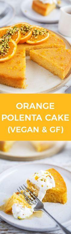 Orange Polenta Cake / Vegan, gluten & refined sugar free / Goodness is Gorgeous