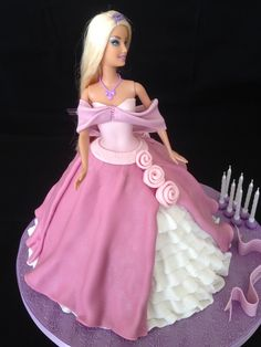 Birthday Cakes - Barbie pink princess cake Sandy you, Alicia and who ever pick what doll cake you all like I have more to see on together boards. Thanks for taking care of this cake! I mean The Barbie doll cake. Doll Birthday Cake, Barbie Birthday, Happy Birthday, Dessert Party, Pink Princess Cakes, Bolo Barbie, Prince Cake, Fantasy Cake, Dress Cake