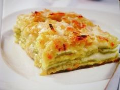 One of my favourite lasagna, with asiago cheese and leek