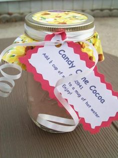 Candy Cane Cocoa mix in a jar!