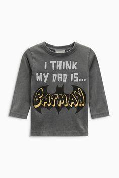 Buy Grey Long Sleeve Batman® T-Shirt (3mths-6yrs) from the Next UK online shop