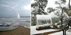 Essa tenda em forma de bolha permite que você durma vendo o céu e as estrelas