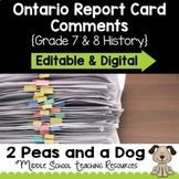 2peasandadog Teaching Resources | Teachers Pay Teachers Teacher Resources, Teacher Pay Teachers, Ontario Curriculum, Report Card Comments, Report Cards, Action Verbs, Teaching, History, Historia