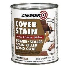 How To Paint Particleboard / Laminate Furniture This oil based primer is key! After all the priming was done I applied one coat of Olympic's Zero-voc, white, latex paint in semigloss. After the paint was fully cured I applied two coats of Varathane Floor Finish #paintedfurniturelaminate