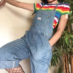 "The London London denim overalls Wear it over a turtleneck or your fav tee for a cutie pie lewk. No size but fits s/m or fitted large. In great condition! 30"" waist 38"" hips 21"" inseam. Only $25 shipped!! ❤️"