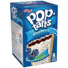 Kellogg's Pop-Tarts Frosted Blueberry Toaster Pastries, 14.7 oz