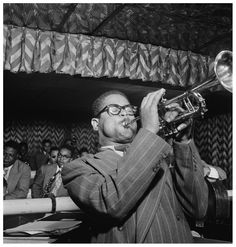 """Dizzy"" Gillespie (October 1917 – January was an American jazz trumpeter, bandleader, composer and, occasionally, singer Miles Davis, Jazz Artists, Jazz Musicians, A Night In Tunisia, Daniel Handler, Charles Mingus, Dizzy Gillespie, Thelonious Monk, Afro Cuban"